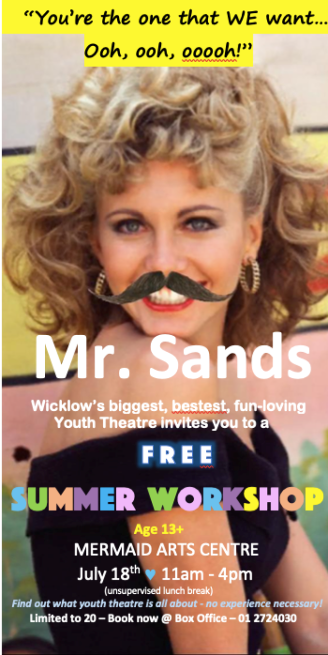 Mr Sands Youth Theatre Workshop New Poster
